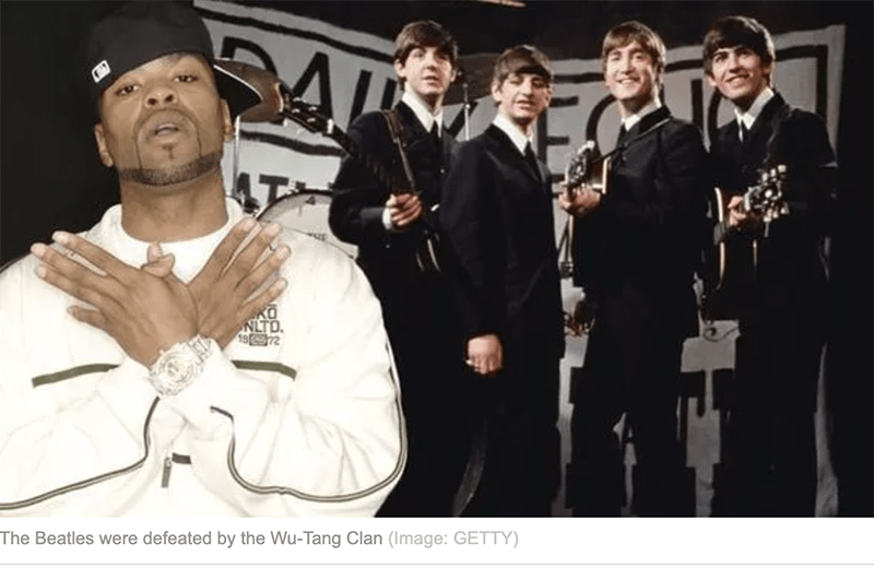 The Beatles' most expensive record was beaten by Wu-Tang Clan's secret album